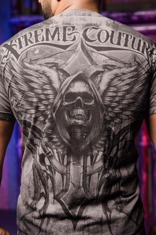 Футболка Xtreme Couture LAST SCREAM от Affliction принт на спине крест, череп и крылья