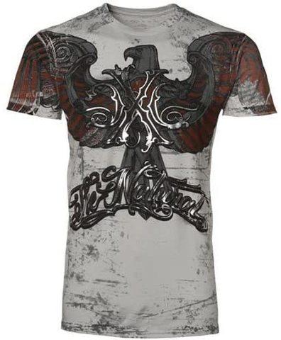 Xtreme Couture | Футболка мужская Olympia Silver X513 от Affliction перед