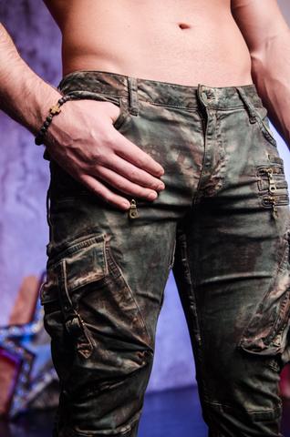 Джинсы Robins Jean Military Green Camo правый боковой карман