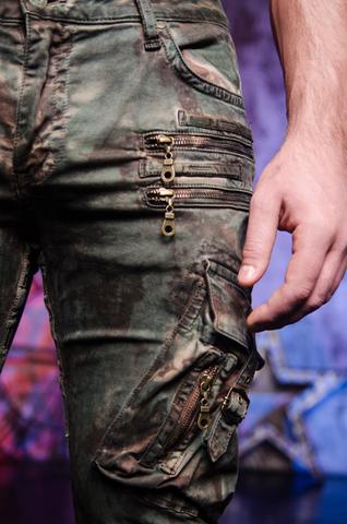 Джинсы Robins Jean Military Green Camo левый боковой карман