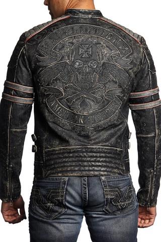 Куртка кожаная Affliction 0673