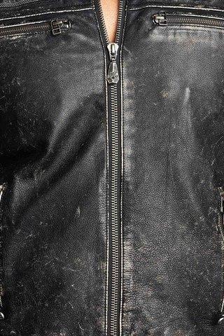 Куртка кожаная Affliction Fast Lane 110OW209 передние карманы