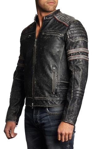 Куртка кожаная Affliction Fast Lane 110OW209 правый бок
