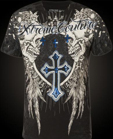 Xtreme Couture   Футболка мужская Provoke Black X1158 от Affliction перед