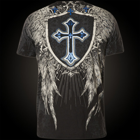 Xtreme Couture   Футболка мужская Provoke Black X1158 от Affliction спина