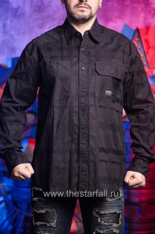 Affliction | Рубашка мужская BLACK IN BACK 110WV611 перед на модели