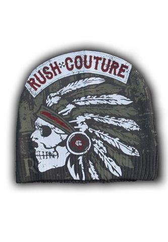 Шапка AMERICAN LEGEND INDIAN RC66 BEANIE Grey Rush Couture