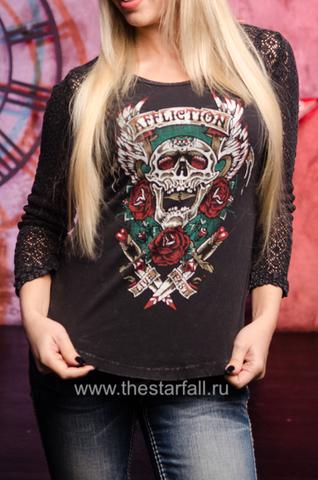 Блуза SCREAMING ROSE AFFLICTION купить