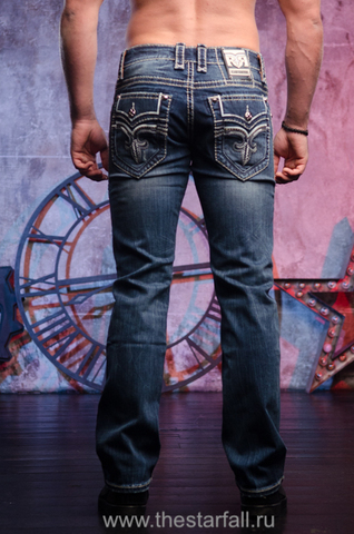 Rock Revival   Джинсы мужские GOSLAR J404 STRAIGHT PR1637J404 сзади на модели