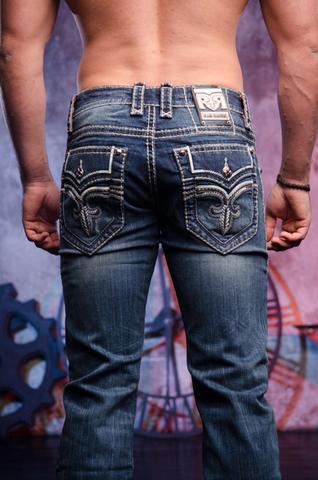 Rock Revival   Джинсы мужские GOSLAR J404 STRAIGHT PR1637J404 задние карманы