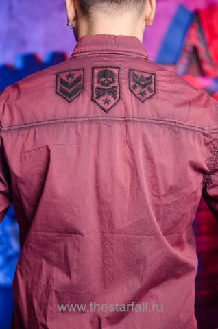 Affliction   Рубашка мужская RUSK 110WV668 вышивка на спине