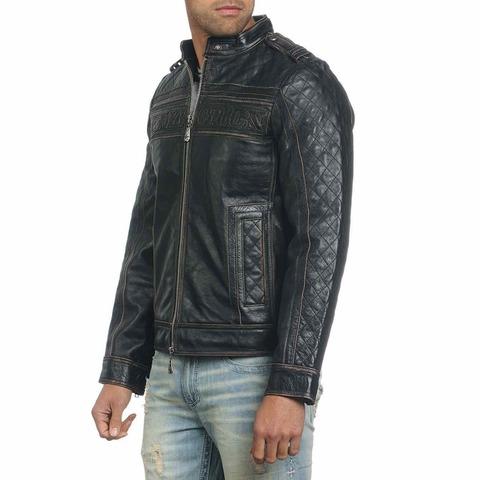 Куртка кожаная Affliction Highway Man Jacket 110OW067 вид сбоку