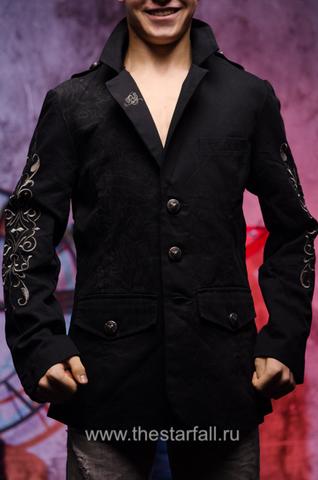 Дизайнерский мужской пиджак  Rebel Spirit с капюшоном