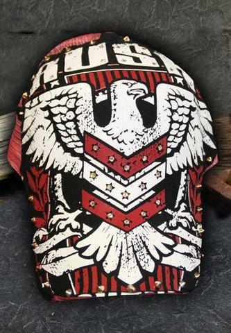 Бейсболка EAGLE GLORY BLACK RED HAT Rush Couture
