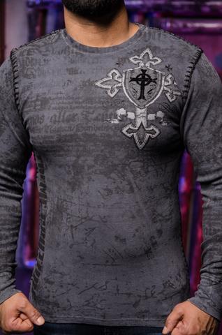 Xtreme Couture   Пуловер мужской PRO FAITH X1850I от Affliction принт спереди
