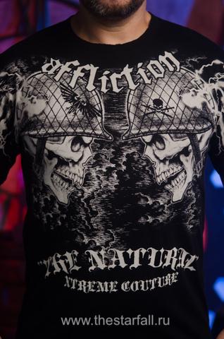 Футболка Randy Couture от Affliction 3663 принт спереди черепа в касках