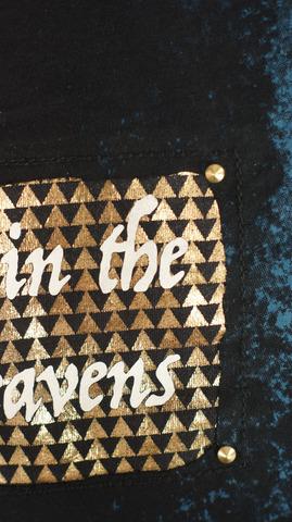 Футболка The Saints Sinphony TWO HEADED GOLD BLUE принт на спине и клёпки