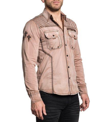 Affliction   Рубашка мужская DESERT WAR правый бок