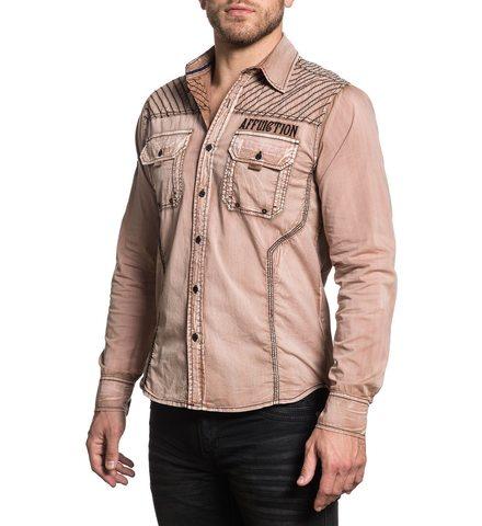 Affliction   Рубашка мужская DESERT WAR левый бок