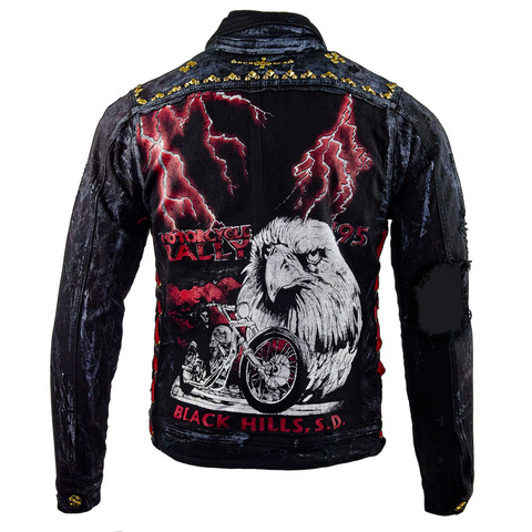 Куртка джинсовая The Saints Sinphony  LIGHTNING EAGLE JACKET BLACK