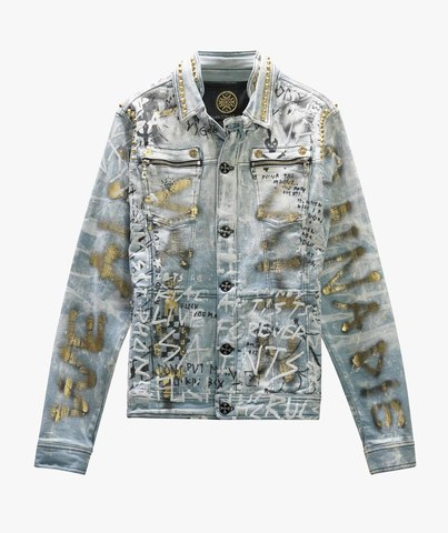 Куртка джинсовая The Saints Sinphony GRAFFITI JACKET LT. BLUE