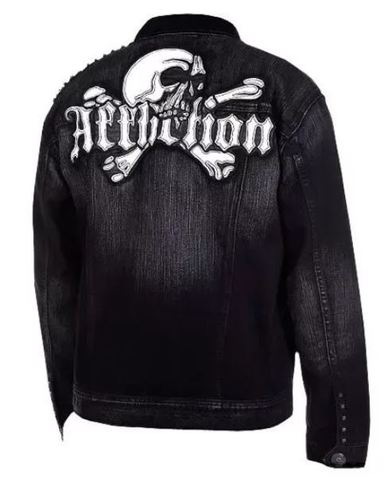 Afflction | Джинсовая мужская куртка Punk Rock A888 спина