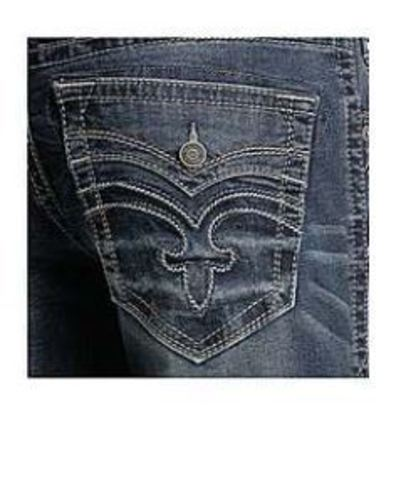 Rock Revival | Джинсы мужские PALFREY J201 STRAIGHT CUT JEAN RP2251J201 задний карман