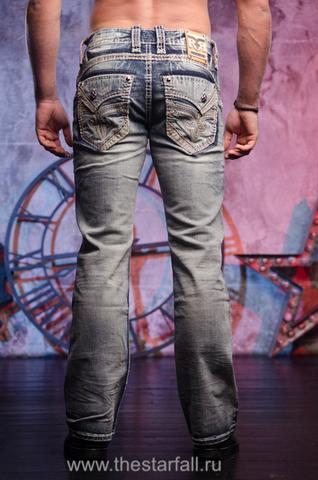 Синие мужские джинсы RAITH B202 BOOT CUT JEAN Rock Revival из США.