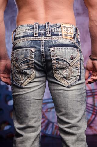 Rock Revival   Джинсы мужские RAITH B202 BOOT CUT JEAN DP2223B202 задние карманы