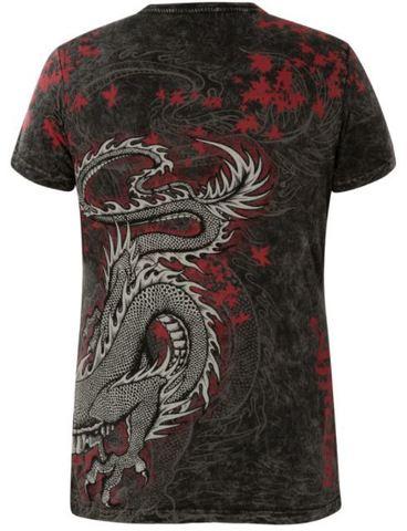 Футболка AFFLICTION Dragon Black с драконом