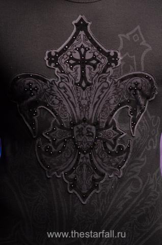Пуловер Rebel Spirit TH111126передний принт геральдическая лилия
