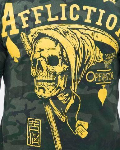 Affliction | Футболка мужская Operator Peacemaker A11505 принт спереди