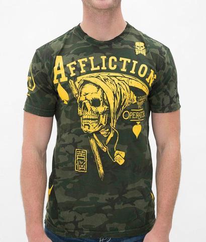 Affliction | Футболка мужская Operator Peacemaker A11505 перед