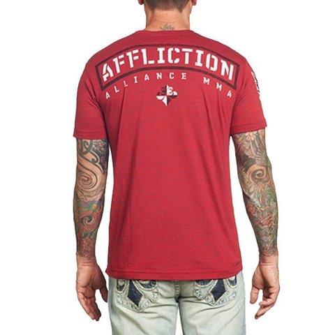Affliction | Футболка мужская Alliance A8701 спина на модели