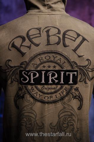 Rebel Spirit   Худи мужское FTZH121377 принт на спине