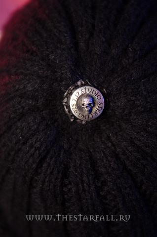 Шапка из пуха соболя Remarkable от 7.17 Studio Luxury с крестом из кожи питона верх