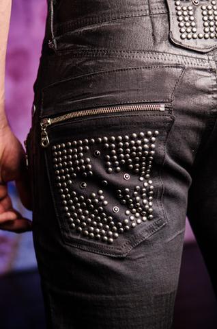 The Saints Sinphony | Мужские джинсы BLACK DIVINCI TSG216 клёпки на заднем кармане