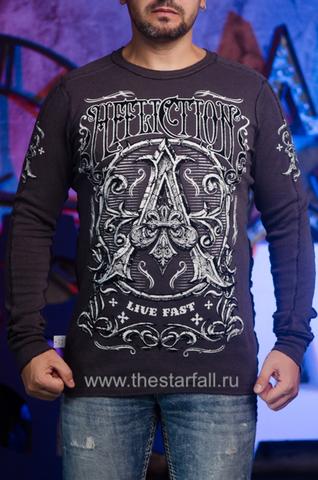 Affliction | Двусторонний мужской пуловер Affliction A226750 обратная сторона перед