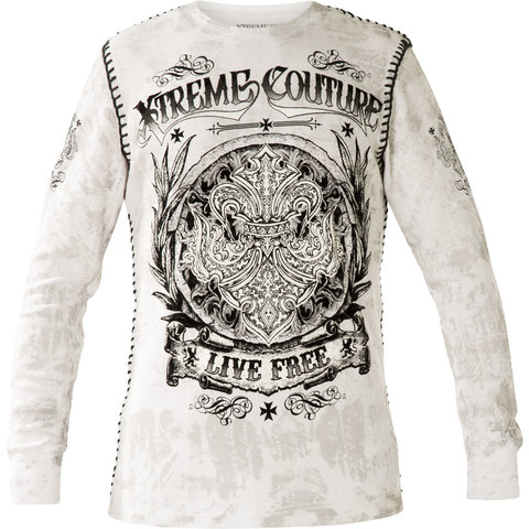 Пуловер Keep Out White Thermal X1786I Xtreme Couture от Affliction