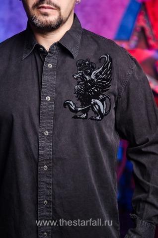 Affliction   Рубашка мужская A226882 принт спереди