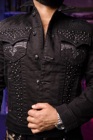 Rock Revival | Мужская джинсовая куртка DOHENY 218 TJ802-218 передние карманы и клепки