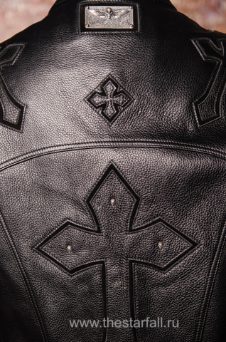 Куртка кожаная 7.17 STUDIO ST226860 спина детали