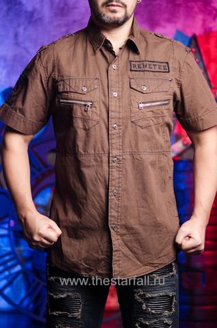 Коричневая мужская рубашка Remetee от  Affliction