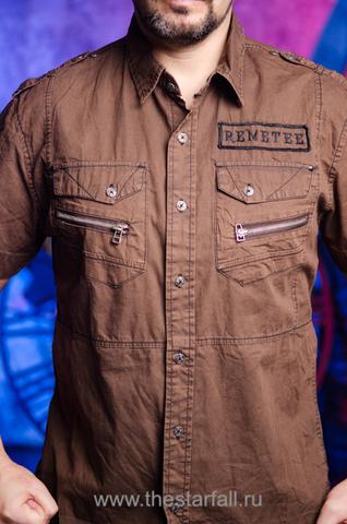 Remetee | Рубашка мужская RM226881 карманы спереди