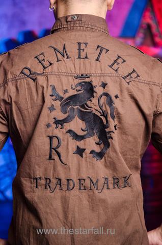 Remetee | Рубашка мужская RM226881 принт на спине