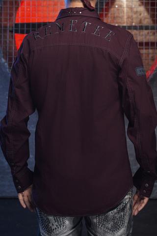 Remetee | Рубашка мужская RM254 спина