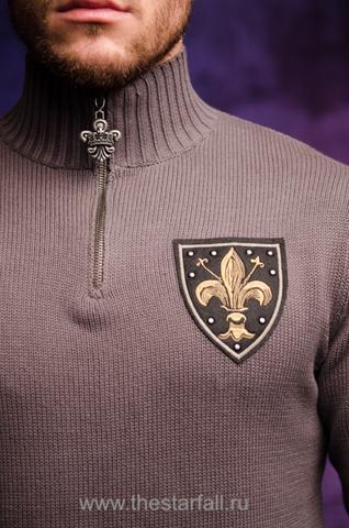 Пуловер Rebel Spirit FTZH11898 передняя вышивка геральдическая лилия fleur de lis