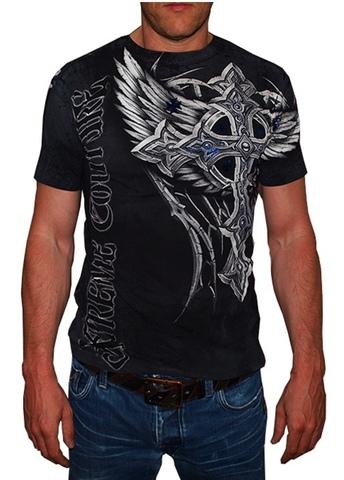 Xtreme Couture   Футболка мужская Panther Black X1246 от Affliction перед