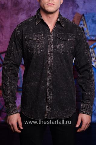 Affliction   Рубашка мужская TEMPER 110WV720 перед