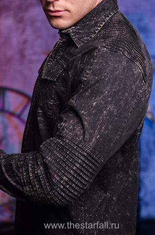 Affliction   Рубашка мужская TEMPER 110WV720 левый бок